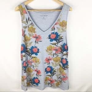 Lucky Brand Placed Floral Tank XL